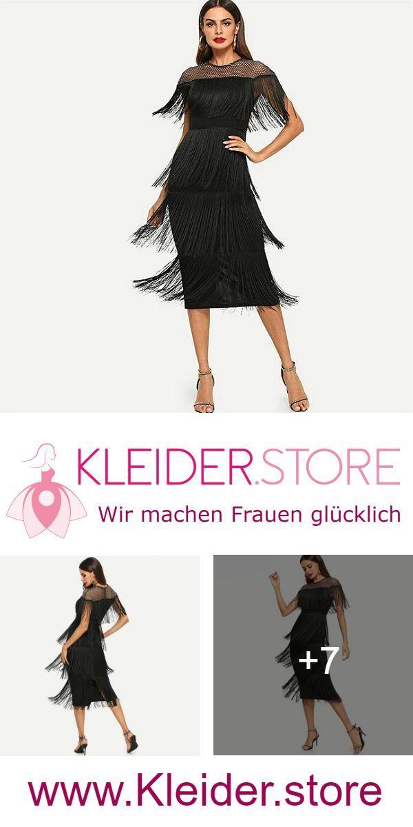 Schwarzes Abendkleid im 20er Jahre Flapper Stil. Dir gefllt das Kleid Dann probi…