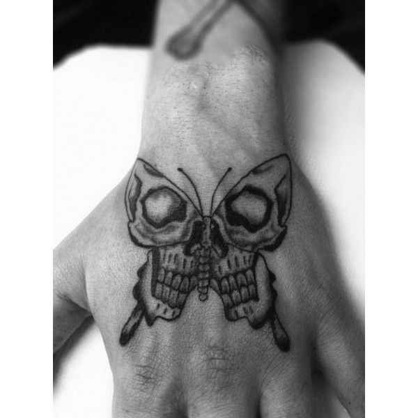 160 Skull Tattoos Best Tattoos Designs And Ideas Liked On Polyvore Featuring Accessories Body Small Hand Tattoos Hand Tattoos For Guys Small Skull Tattoo
