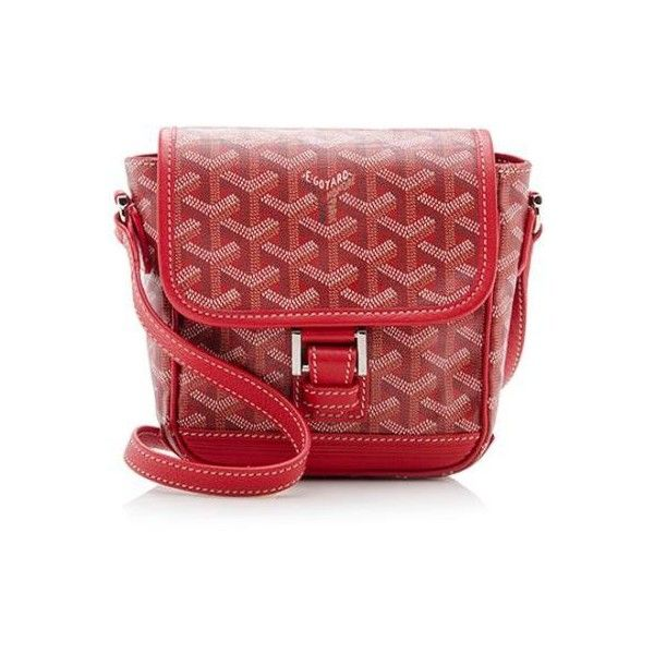Goyard Rental Grand Bleu PM Messenger Bag ($85) ❤ liked on Polyvore featuring bags, messenger bags, red, canvas crossbody bag, canvas crossbody messenger bag, canvas bag and canvas cross body bag