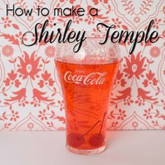 """Shirley Temple ~A """"fancy"""" non-alcoholic drink. Perfect for kiddos! ~Mix 1 Tbsp Grenadine Syrup in 1 cup of Sprite and drop in a few cherries. You can change the proportions to your taste. Or 2nd recipe:   1 cup (250 mL) lemon-lime soda,  2 tbsp (25 mL) grenadine,  1 tbsp (15 mL) orange juice,   orange slice and maraschino cherry for garnish"""