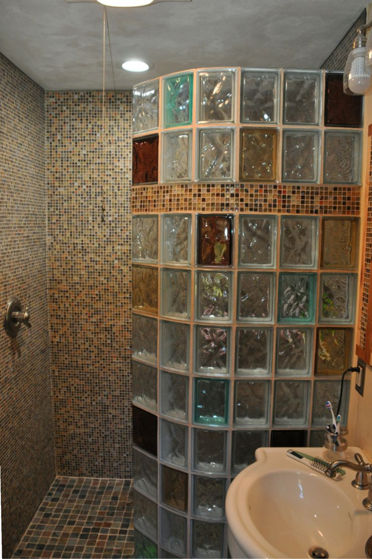 Room ider in the corner bathroom ideas opaque glass opaque glass - 7 Myths About Glass Block Shower Walls Design Http Blog