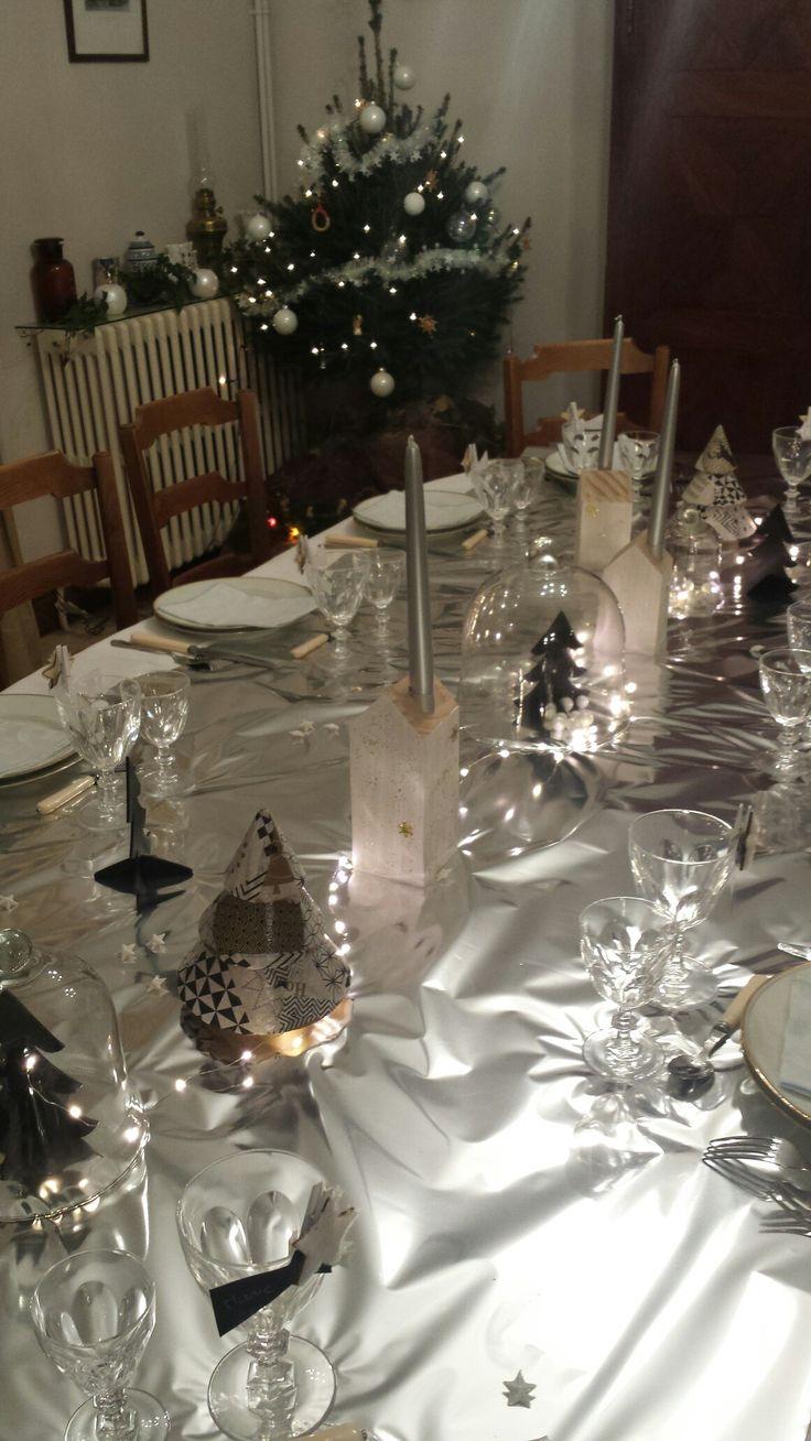 Table de Noël  noir et argent
