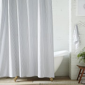 gray and white striped shower curtain. Ticking Stripe Shower Curtain  westelm Best 25 Striped shower curtains ideas on Pinterest Grey striped