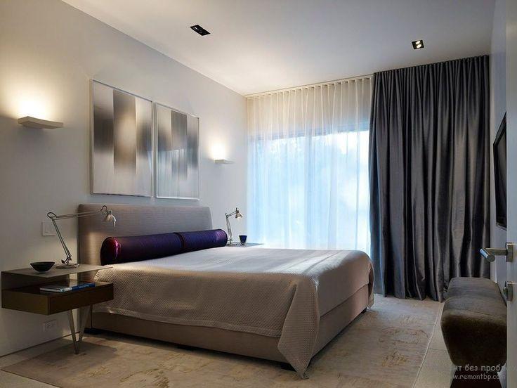 Интерьер минималистской спальни в пастельных тонах