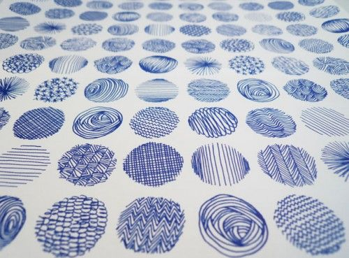 circles... dots... lines...good examples of patterns!