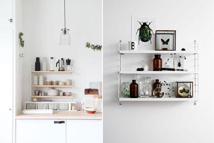 17 meilleures id es propos de d cor d 39 tag re murale sur for Decoration etagere cuisine