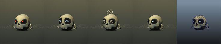 Micro Skeleton Picture  (3d, fantasy, character, monster, bone, game art, undead, skeleton, lowpoly)