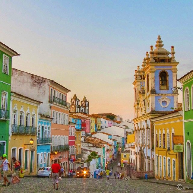 The lively streets of Salvador de Bahia, Brazil's first capital city. Photo courtesy of mrs_voyages on Instagram.
