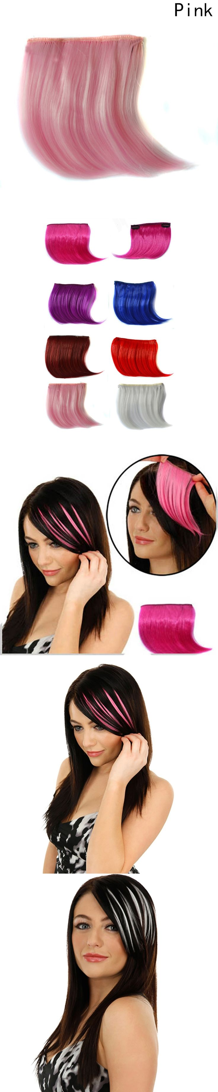Colorful Fringe Hair Piece Fringe Clip In Hair Bangs Hairpiece Clip In Hair Extensions Fake Bangs Seamless Hair Style Accessory