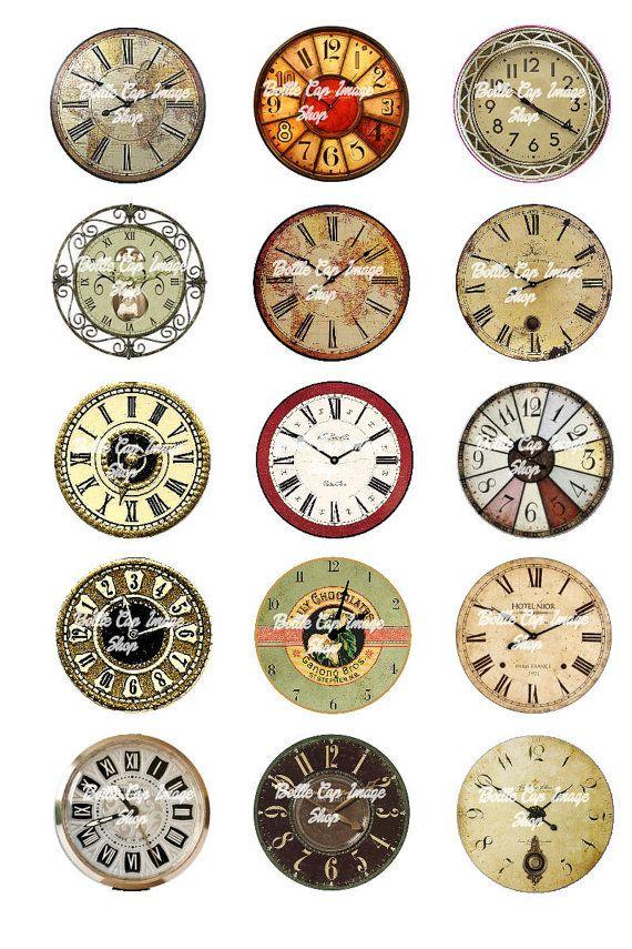 Vintage Clocks Printable Digital Collage by ...