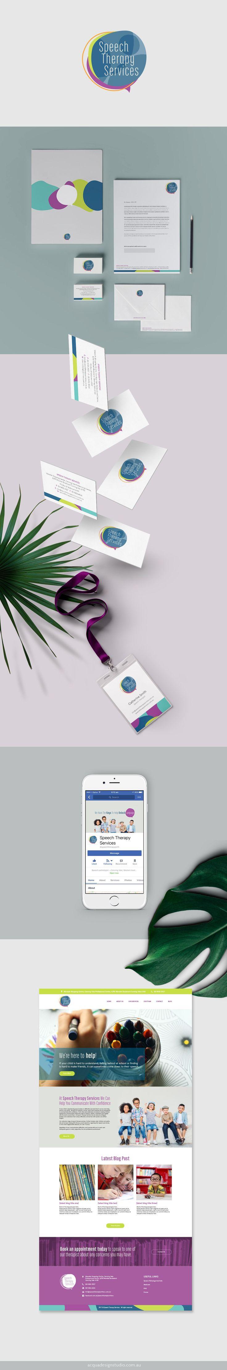 Speech Therapy Services Rebrand / Acqua Design Studio / acquadesignstudio.com.au