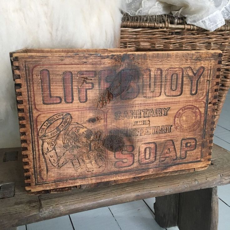 RARE Antique/Vintage Advertising Wood Crate Soap Box LIFEBUOY Early Dovetail Old  | eBay