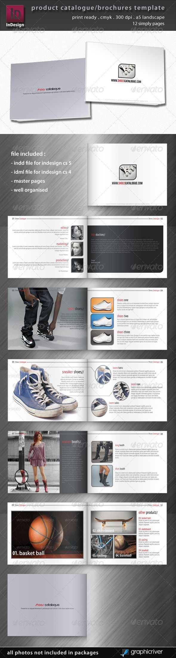 Product Catalogue/Brochure Template - GraphicRiver Item for Sale