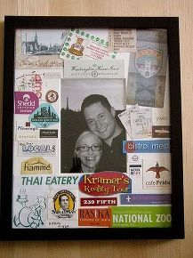 picture collage, crafts, Finished Frame