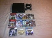 Sony PlayStation 3 PS3 Slim 160 GB w/11 Games   Extras