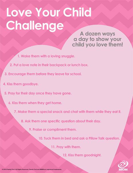 In the busyness of our mom-life, we can forget to do the little things that let our children know how we feel! Take our NEW Love Your Child Challenge! #imom #love #freeprintable