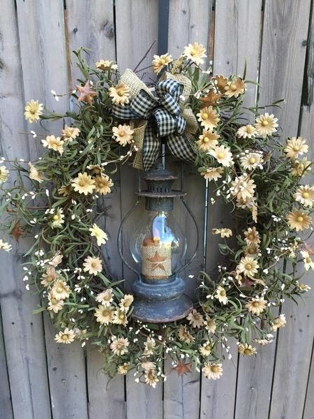 country christmas lantern arrangement wreath makingdiy wreathwreath ideascraft