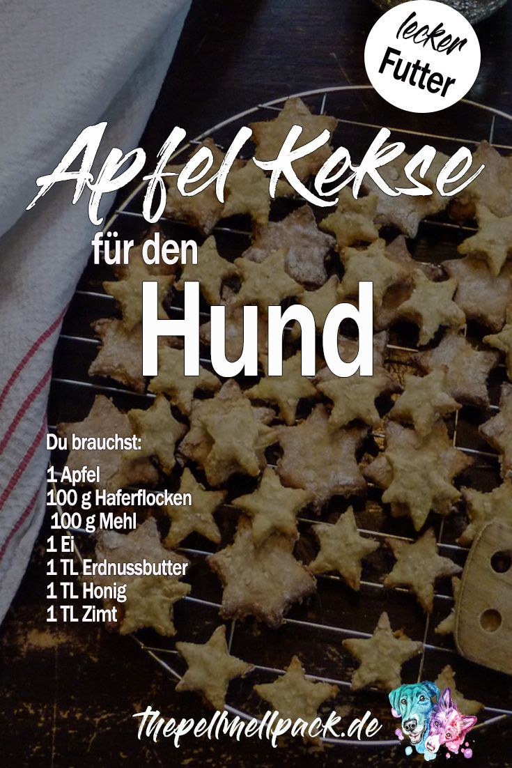 Hundekekse mit Apfel, Zimt & Erdnussbutter