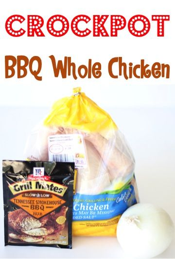 Crockpot BBQ Whole Chicken Recipe! ~ from TheFrugalGirls.com ~ this Slow Cooker Barbecue Chicken recipe couldn't be easier and is SO delicious! #slowcooker #recipes #thefrugalgirls