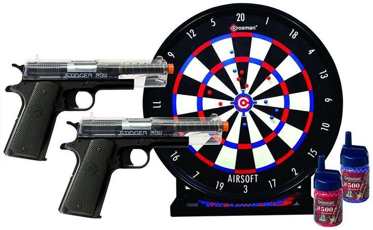 Airsoft Pistol Spring Air Kit 2 Pistols Target P311 1000BBs Crosman Airsoft Game #Crosman