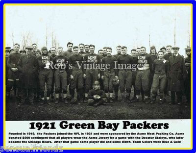 Green Bay Packers Poster Acme Packers 1921 Vintage Team NFL photo reprint on eBay!