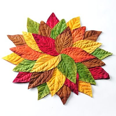 Croft and Barrow Pile of Leaves Placemat- Idea....copy this idea and make out of felt pieces or if you are very ambitious, quilted ? I think I need to try this out of felt