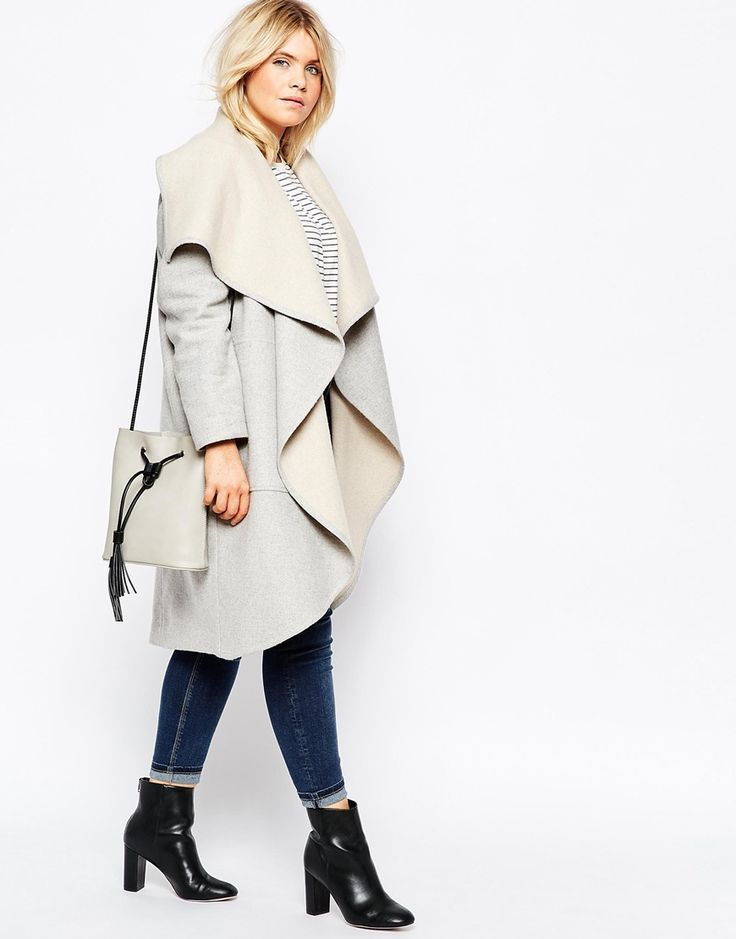 ASOS CURVE • Oversized Waterfall Coat. For more For more inbetweenie and plus size style inspiration go to http://www.dressingup.co.nz