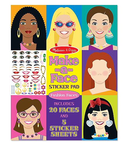 Make-A-Face Sticker Pad- girls faces!  by Melissa & Doug  My kids looove these!  So fun!
