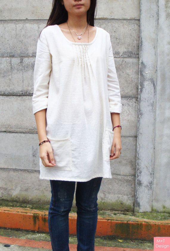 Elegant classic Japanese style linen Dress / Shirt di madebymt