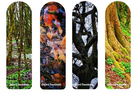 Woodland Bookmarks Printable Bookmarks Tree by OxfordDownloads
