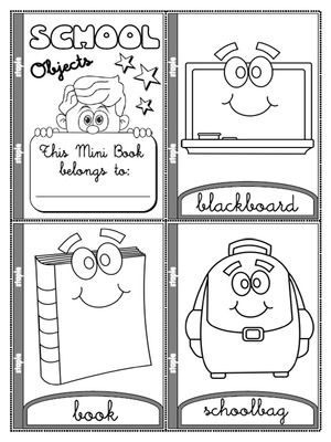 At School Colouring Mini Book B 246 Rnin Og Sk 243 Li