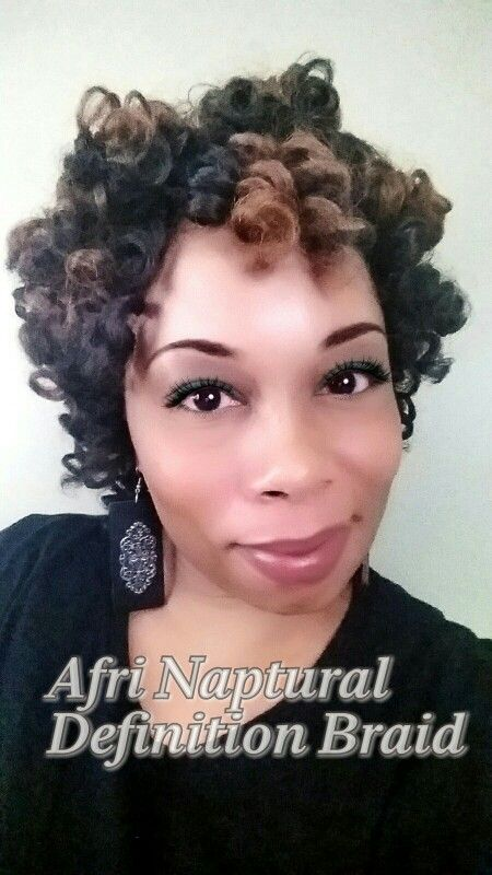 Crochet Braids Roller Set with Afri Naptural Definition Braid. Love ...
