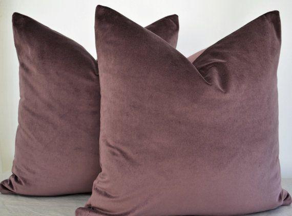 Purple  Velvet  Pillow Cover,Purple Pillow Cover, Purple Cushion Cover,Plum Velvet Pillow Cover,Plum Pillow Cover