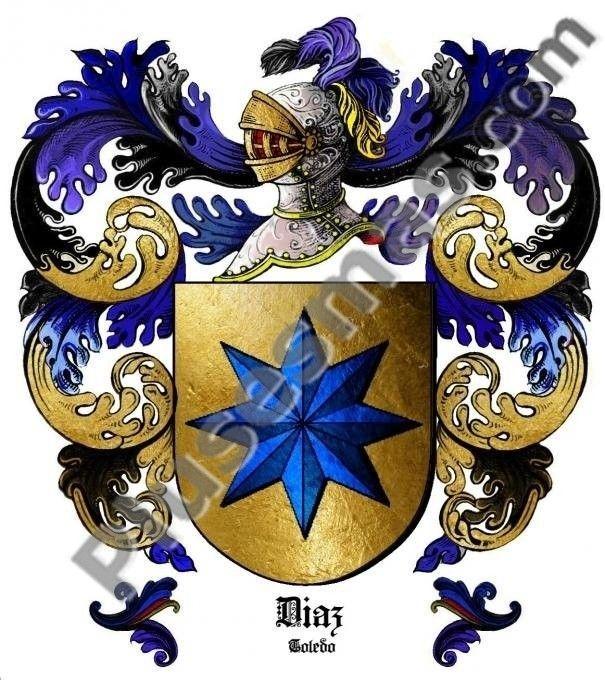 Escudo Del Apellido Díaz Escudo Escudo De Armas Apellidos Escudo De Armas