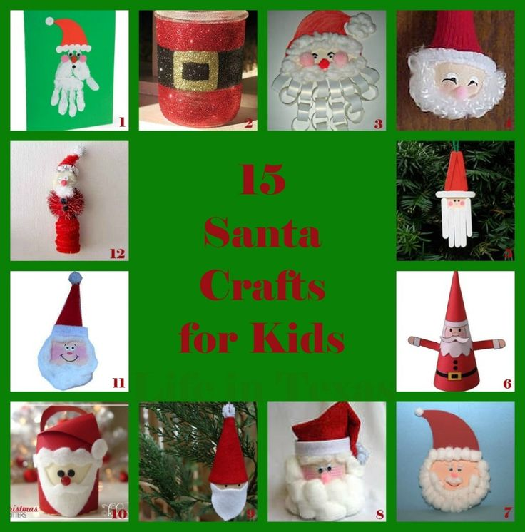 15 Santa Crafts for Kids from Life in Texas