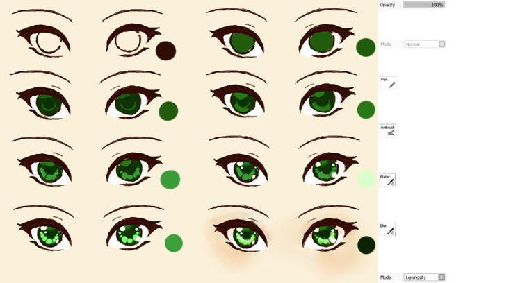Galaxy eyes tutorial by kipichuu on deviantart art