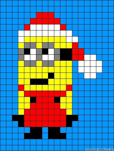 Christmas Santa Minion perler bead pattern