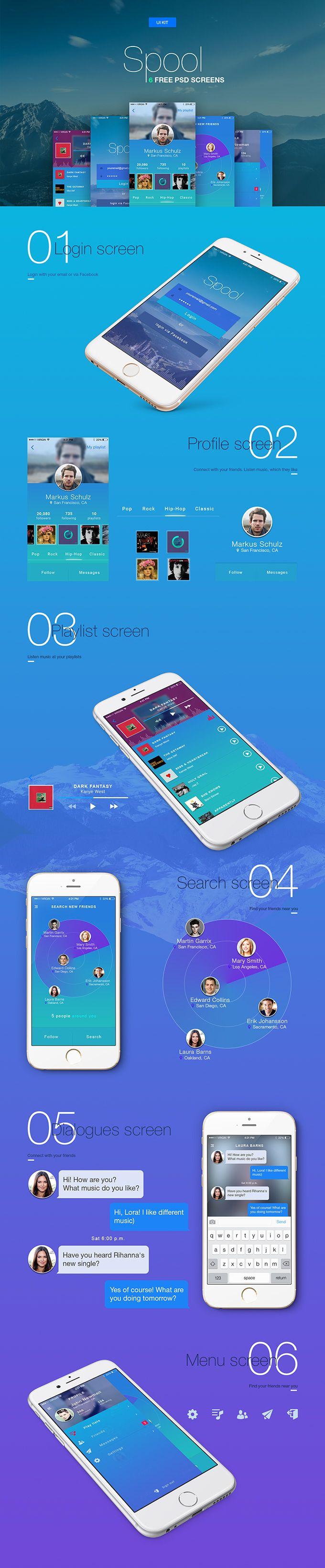 Spool: 6 Mobile UI Templates