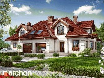 Dom w bergamotkach (R2) - Projekt domu jednorodzinnego z poddaszem z garażem dwustanowiskowym