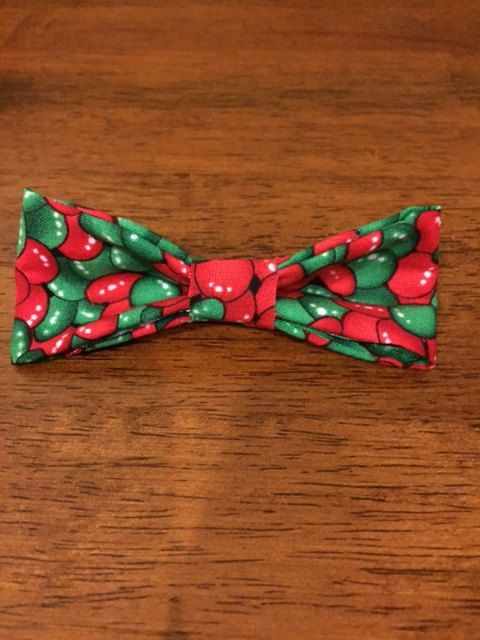 M&M red and green bow tie, now ON SALE %65 off! Now only 3.50!