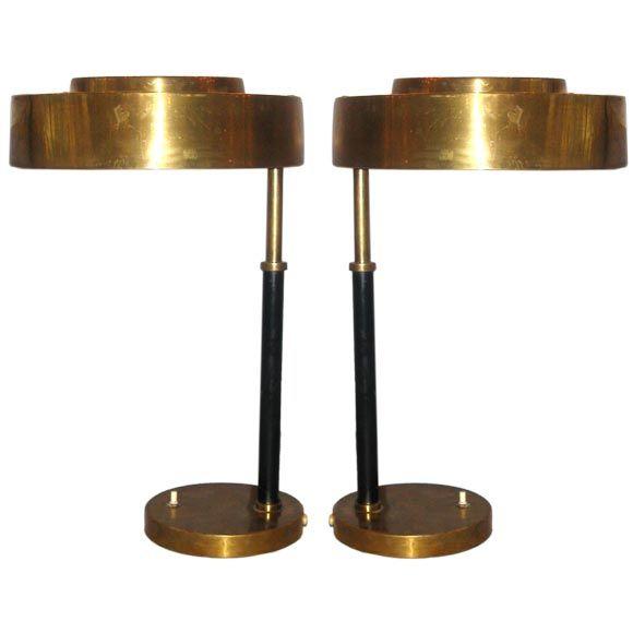 Mejores 93 imgenes de art deco lighting table en pinterest pair of marine brass desktable lamps from a unique collection of antique and iluminacin art decolmpara aloadofball Images