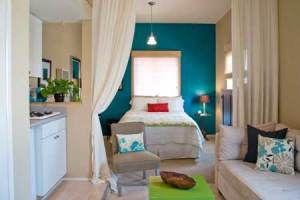 Studio Apartment Ideas (college girl bedding ceilings)