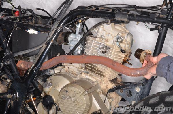 Kawasaki KLF220250 Bayou Bumpers and Racks, Compression