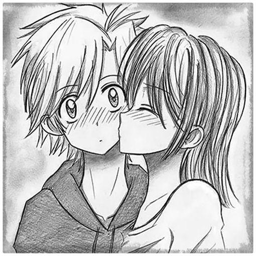 Image Of Imagenes De Animes Romanticos Para Pintar Resultado De