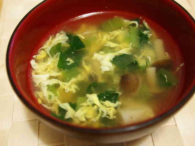 とろっと小松菜たまごの中華スープの画像