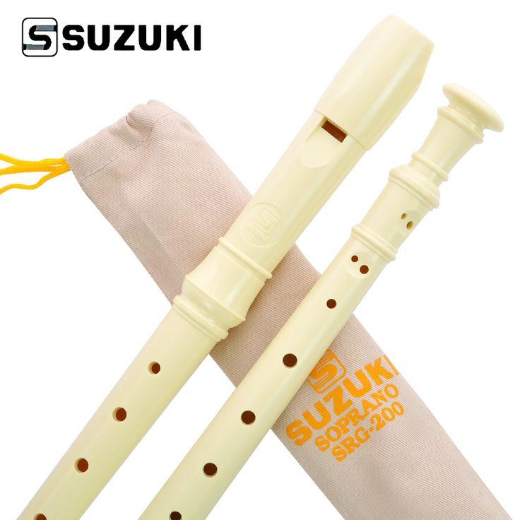 Alta calidad SUZUKI SRG-200 Alemania Tipo 8-Holes Flauta Soprano/Flauta Estudiante Principiante Grabadora