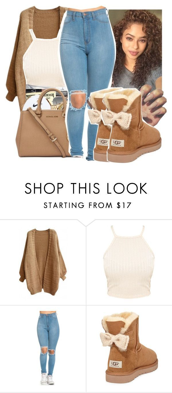 Untitled #344 by gabb-slayy on Polyvore featuring UGG Australia and Ray-Ban