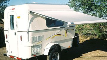 Weis Craft trailers | Little Joe Awning provides comfort and shade for relaxing outside