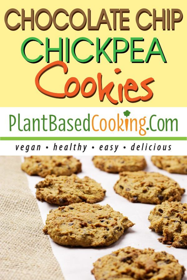 Whoever came up with this idea is genius – chickpea cookies! You can now sneak veggies into your desserts! (just don't t…