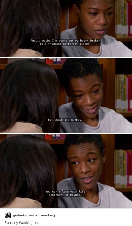 orange is the new black, oitnb, poussey washington, brook soso, poussoso